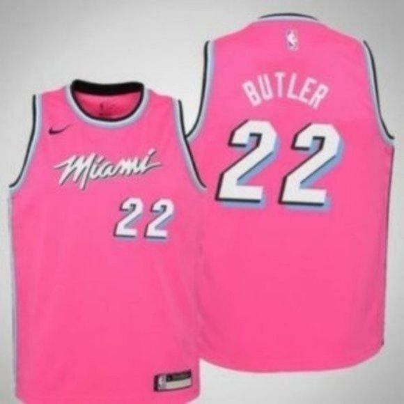 Classic Jimmy Butler #22 Miami Heat Basketball Jersey Stitched Black White Red
